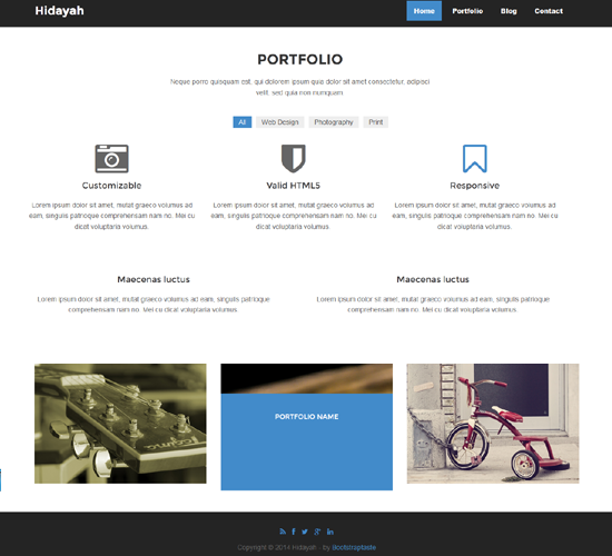 Single page html5 template: Business Templates Download | Free ...