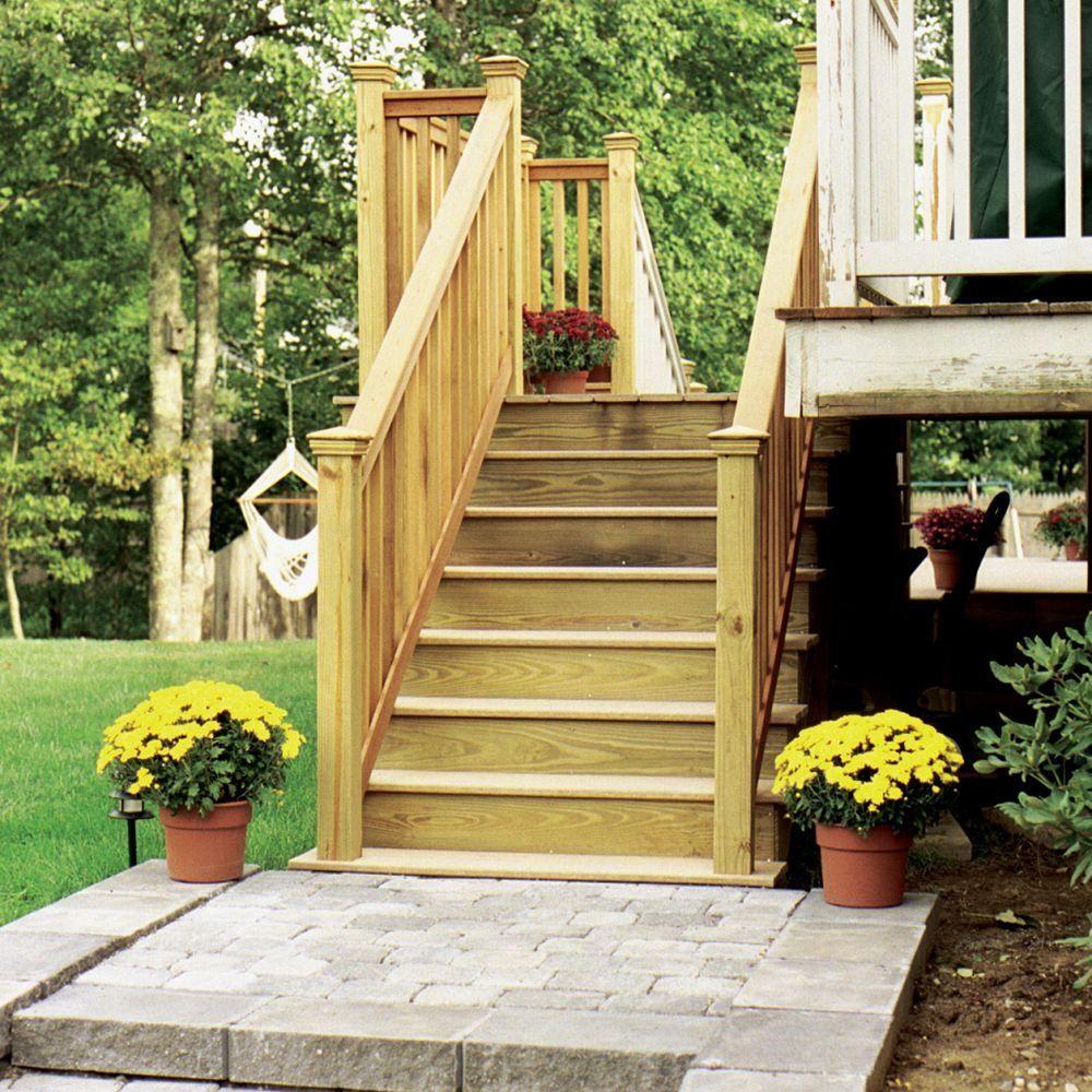 Null 5 Step Pressure Treated Pine Stair Stringer Tree | Pressure Treated Wood Steps