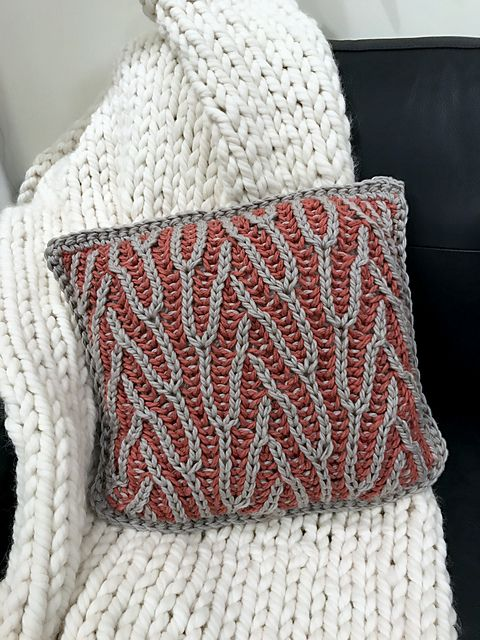 db632a46546 Ravelry  Regal Brioche Pillow pattern by Nona Davenport