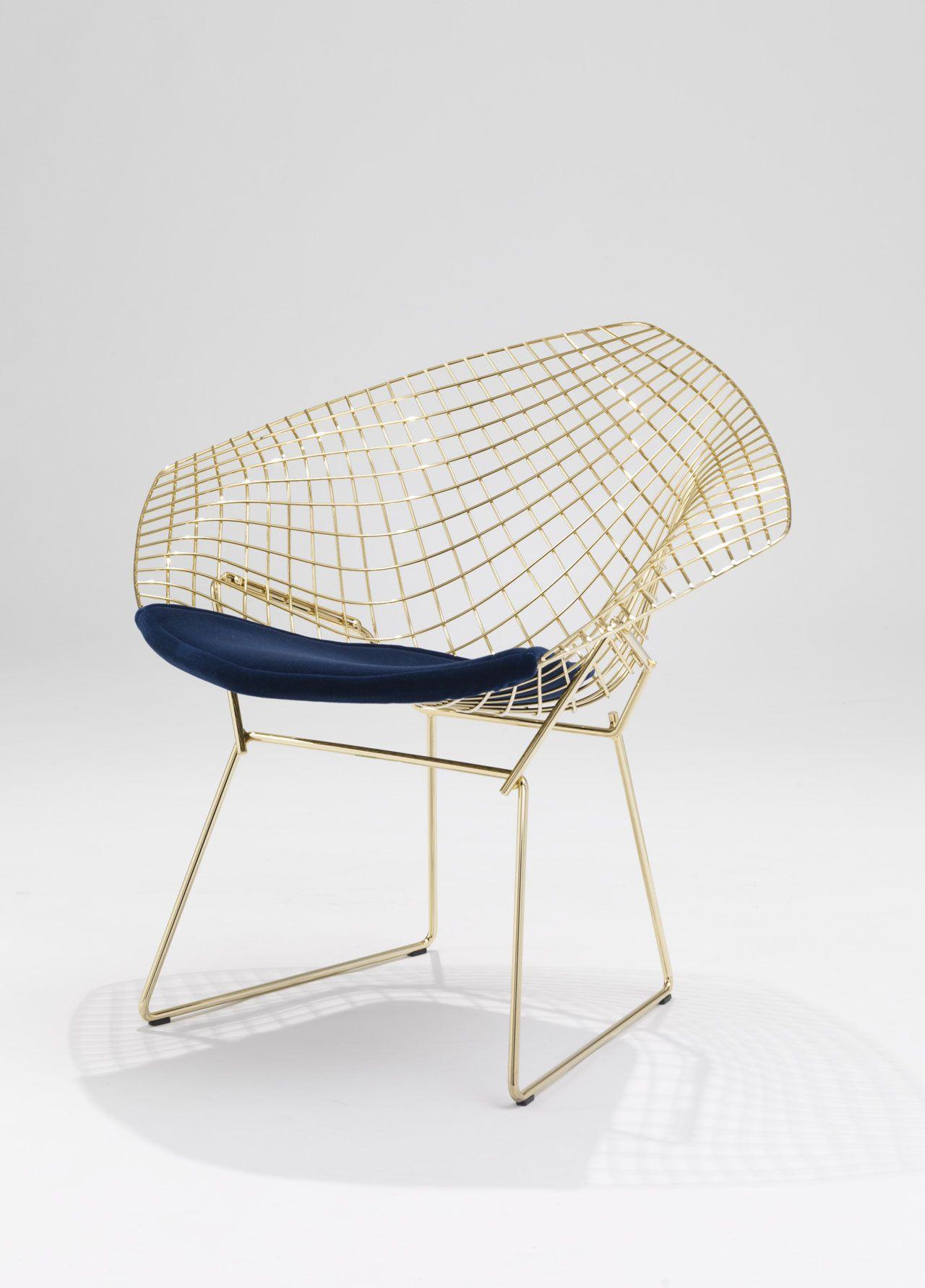 Bertoia diamond chair sheepskin - Best Of Milan Design Week 2016 Harry Bertoiachair