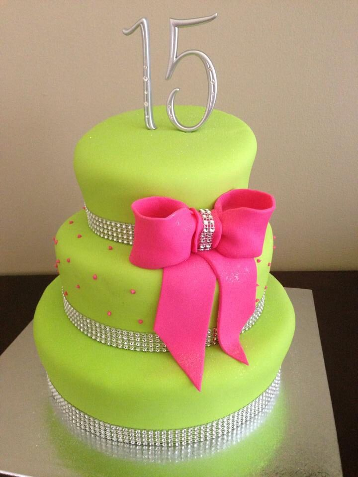 Sweet 15 Birthday Cake by Iris Ortiz By Me Pinterest 15th