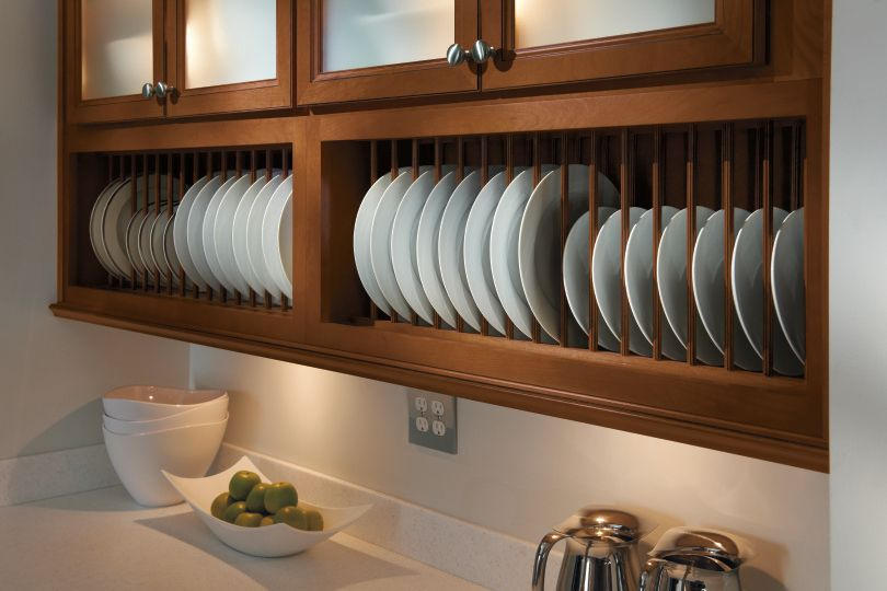 Upgrade Kitchen Cabinets Build A Custom Plate Rack Blue Roof Cabin Featured On Remodelaholic Com Upgrade Plate Racks Kitchen Cabinets Builder Grade Kitchen