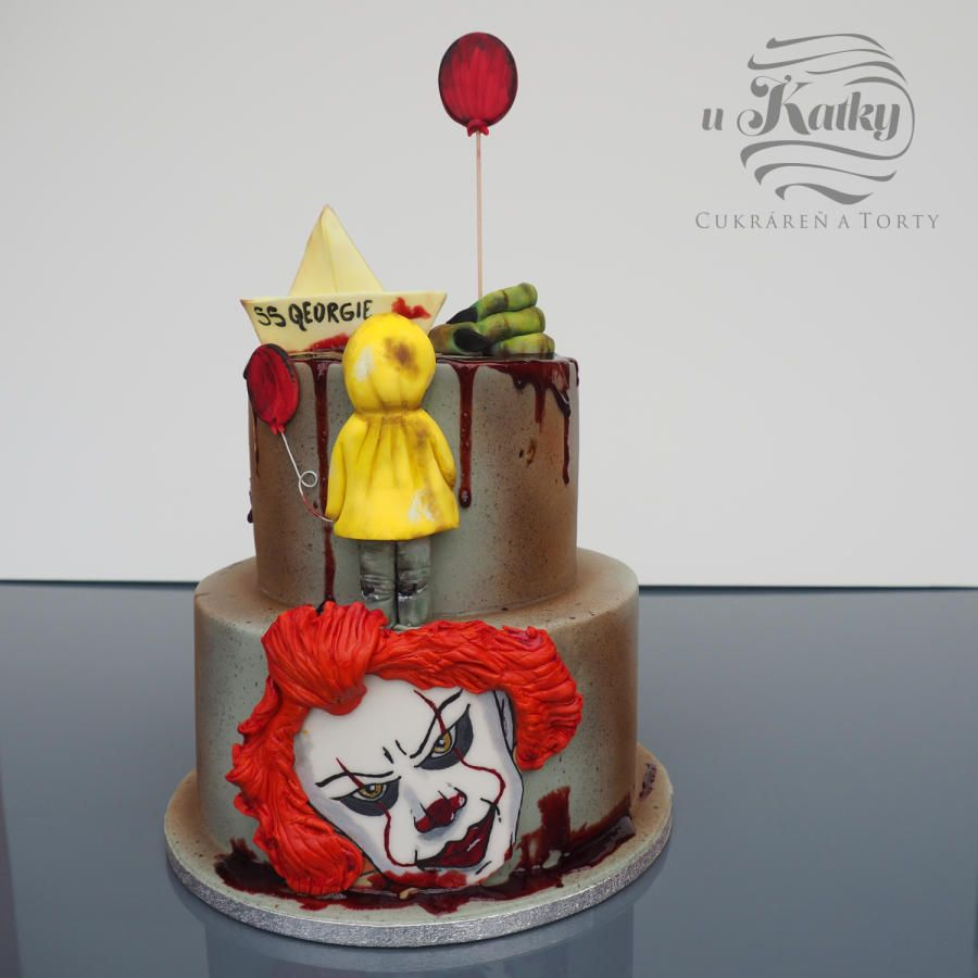 Surprising It Horror Movie By Katka With Images Scary Cakes Scary Funny Birthday Cards Online Inifofree Goldxyz