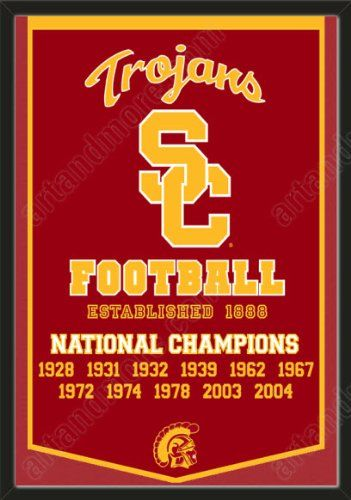 Sports Mem, Cards & Fan Shop Fan Apparel & Souvenirs USC Trojans Football NCAA National Championship Banner