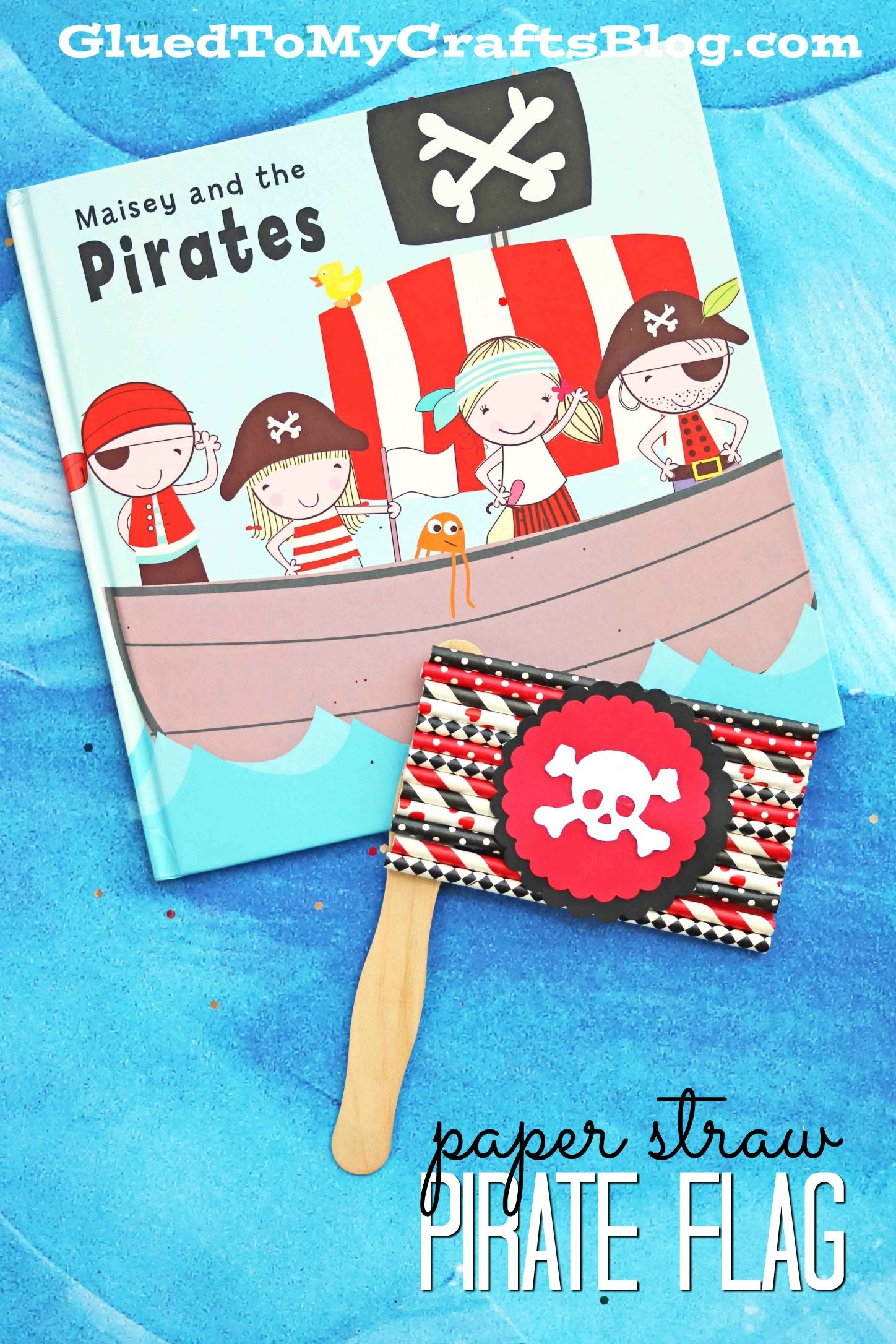 Popsicle Stick Pirate Flags Kid Craft