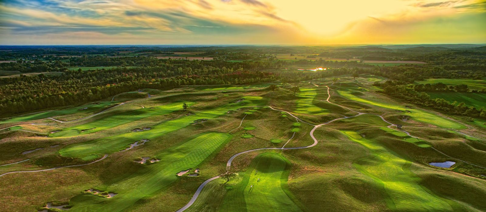 Erin Hills Is A Course Like None Other Routed Over The Kettle - Us Open Course Map