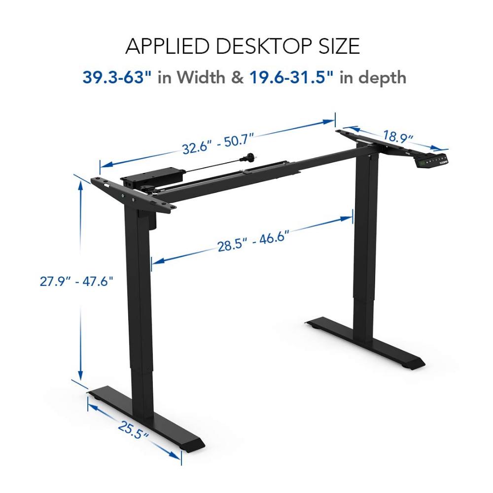 Amazon Com Flexispot Ec1b R4830b Height Adjustable Desk Frame