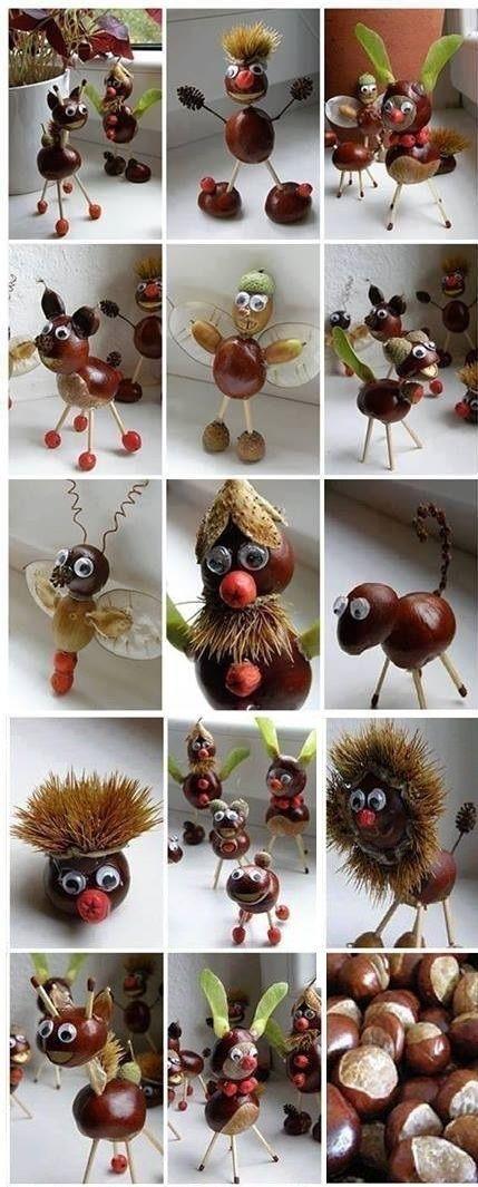Basteln im Herbst mit Kindern  von Naturmaterialien bis Knöpfe is part of Acorn crafts - Basteln macht Spass  Suchst du tolle Ideen für den Herbst ! Dann schau dir meine Ideen an  Hier ist für jeden etwas dabei!