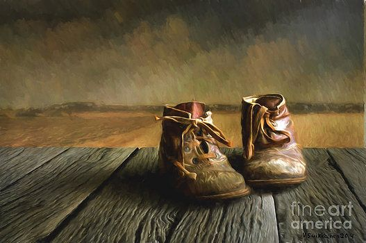 Tattered Old Work Boots by FantasyStock on deviantART