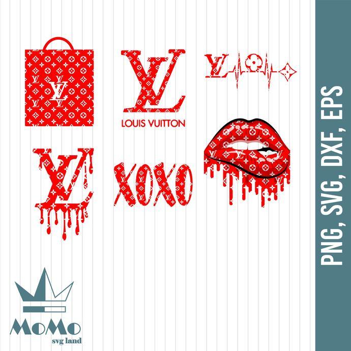 Louis Vuitton Supreme Lips SVG, LV Logo, Lv Pattern