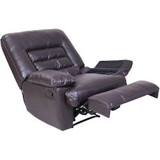 Used Serta Big And Tall Massage Recliner Chair Brown Faux Leather