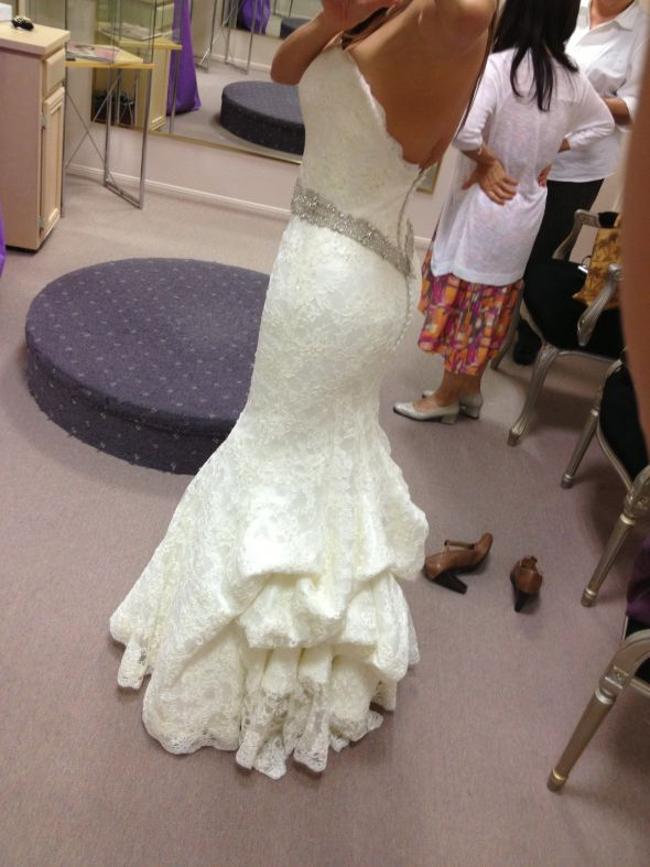Major alterations - Augusta Jones Jessie. White and Gold Wedding ...