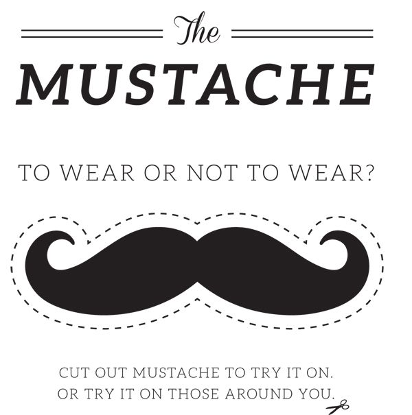 free mustache photo booth printable