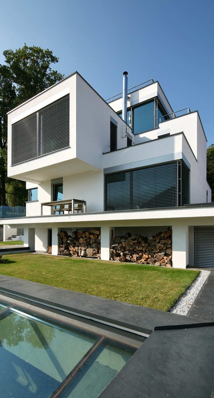 exterior XV House Cubic Shapes and Modern