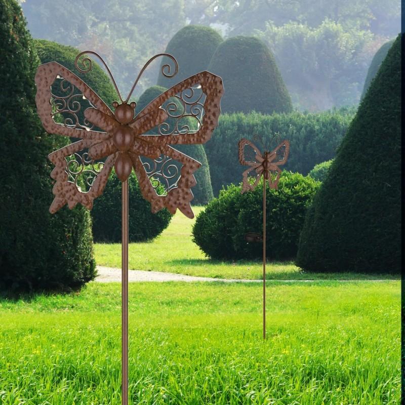 Led Solarlampe Erdspiess Mit Schmetterling Von Globo Gartendeko Living Haus Garten Solarlampe Led Solarleuchte Lampen Wohnzimmer