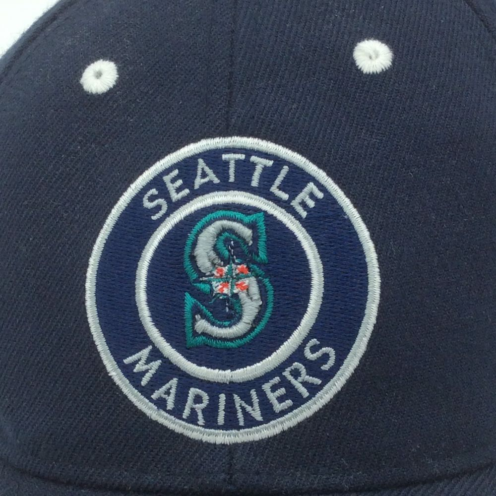 Seattle Mariners Baseball Cap Hat MLB Polyester Wool Navy one size