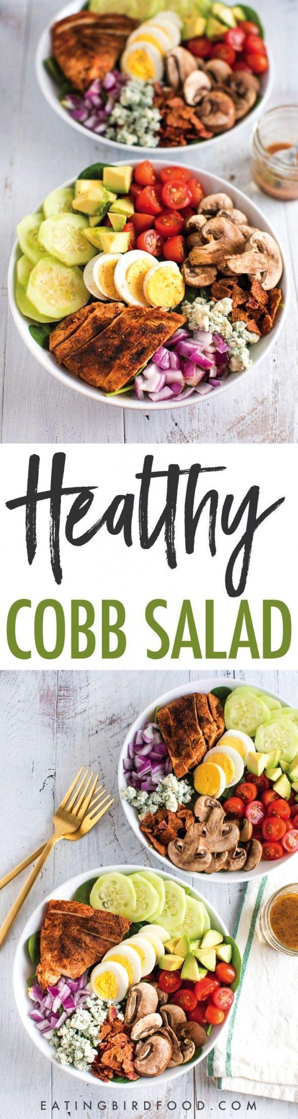 Blackened Chicken Cobb Salad #paleohacksrecipes #blackenedchicken Blackened Chicken Cobb Salad #paleohacksrecipes #blackenedchicken