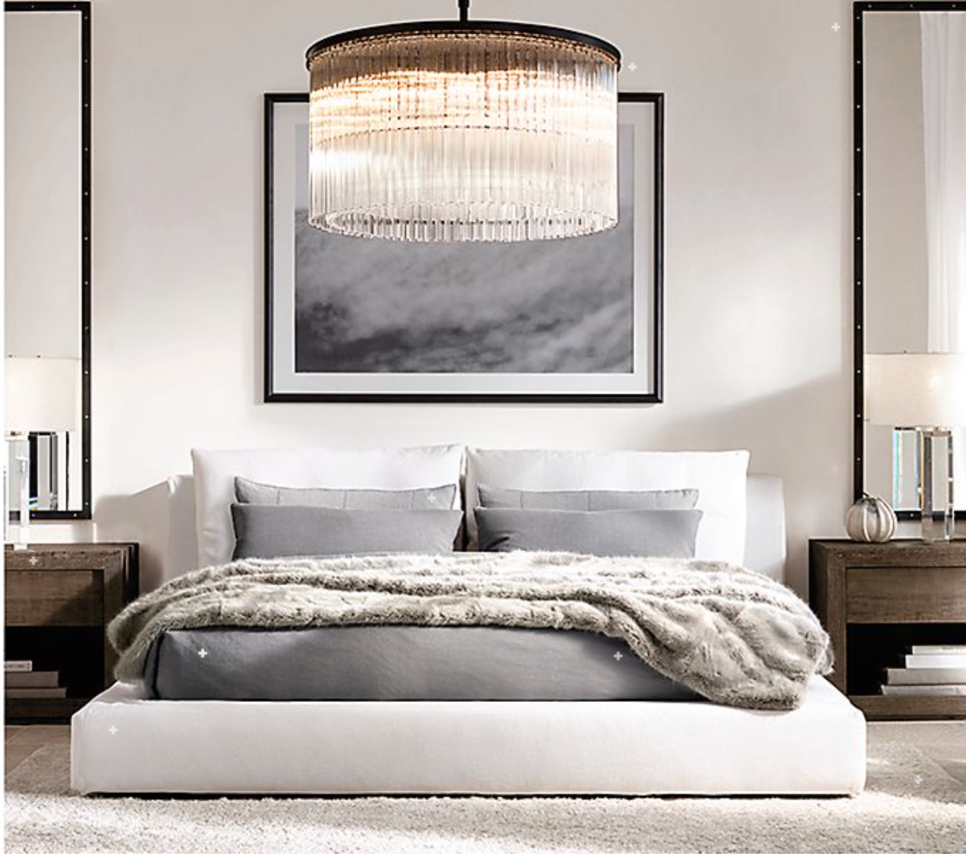 Design An Elegant Bedroom In 5 Easy Steps: Symmetry Setting, Huge Canvas