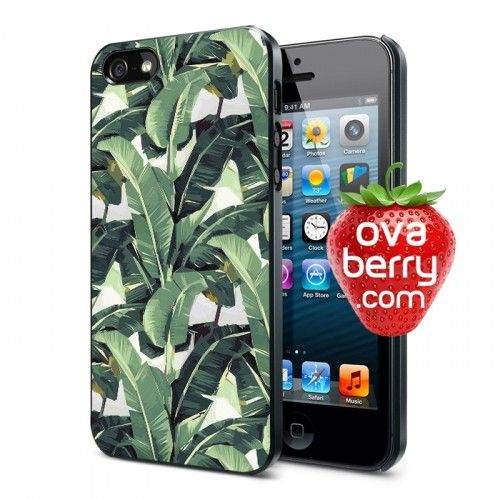 Tropical Banana Leaves iPhone and Samsung Galaxy Phone Case