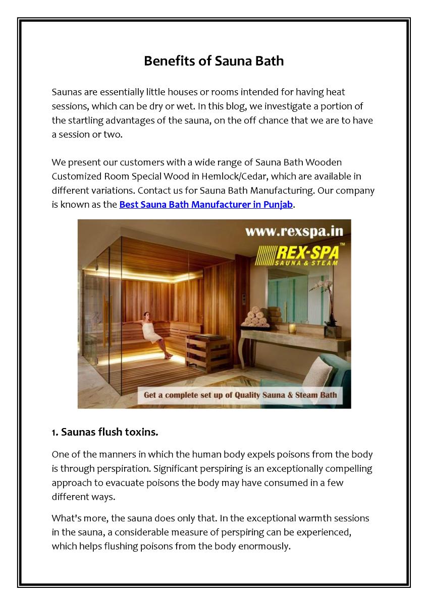 Pin by Rex Gym Spa Sauna Steam on Best Sauna Bath Manufacturer in ...