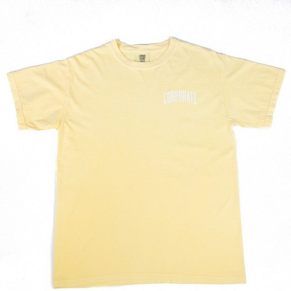 Washed Tee (Yellow) - $25
