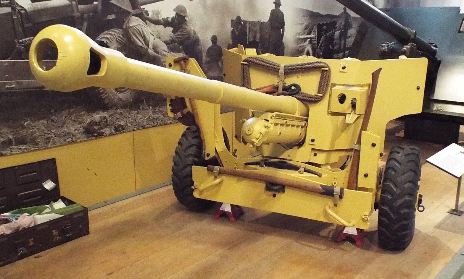 German 50 Mm Anti Tank Gun: British 6 Pounder 7 Cwt Mark II Anti-Tank Gun 1943