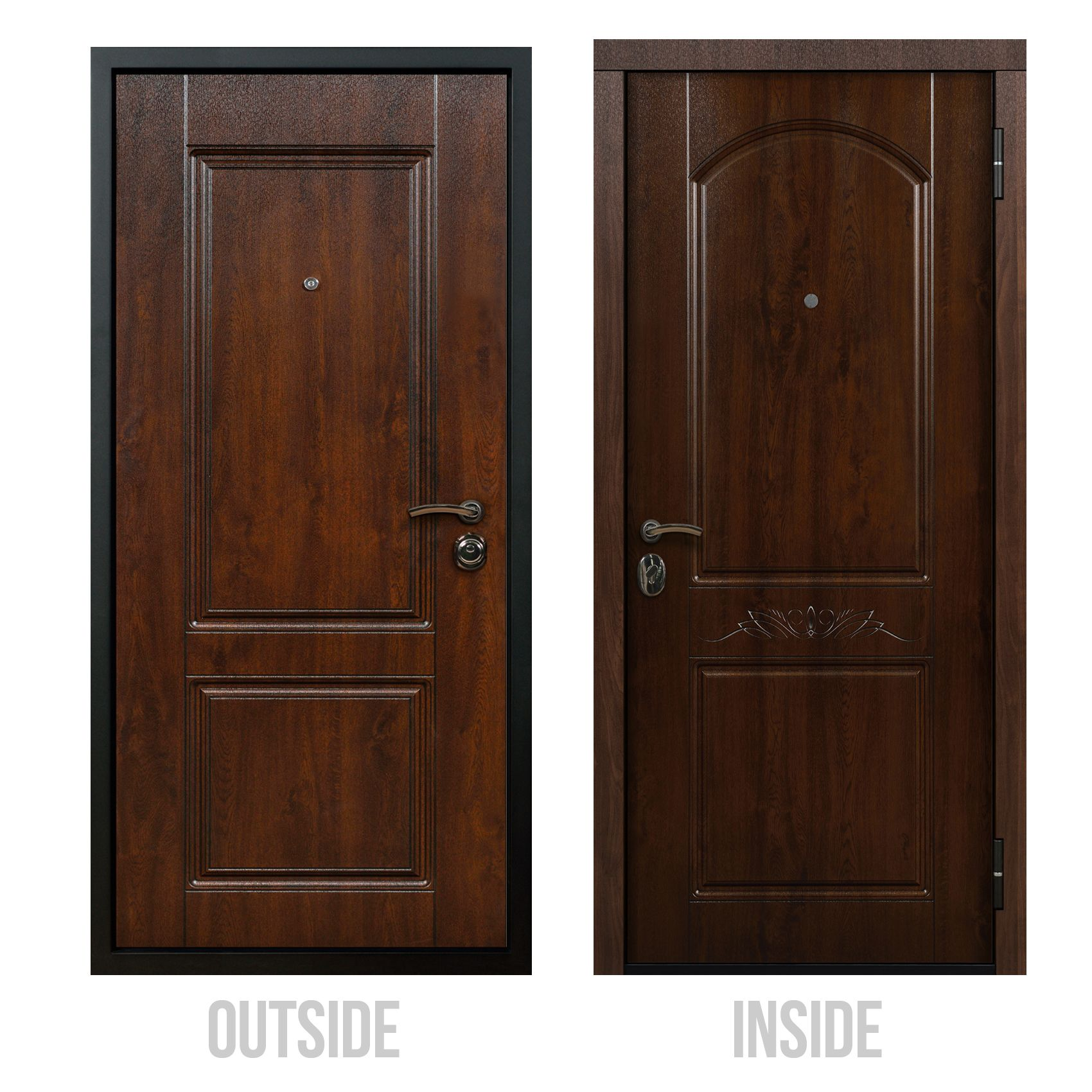 Custom Entry Doors Dark Oak Front Door Of Steel Valtera Custom