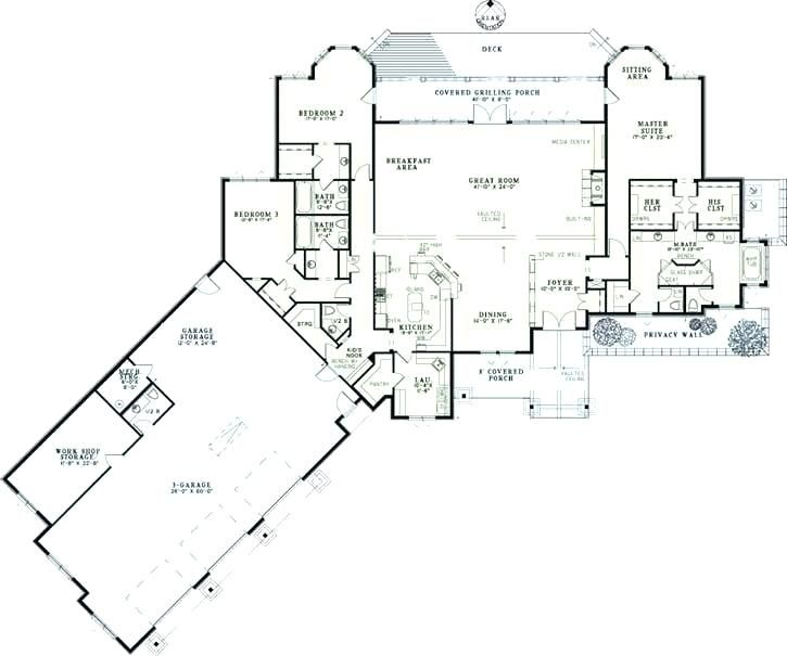 House Plans With Large Garages Garage Home Plans Ranch House Plans With Angled Garage Beautiful Ranch St Unique House Plans Ranch Style House Plans House Plans