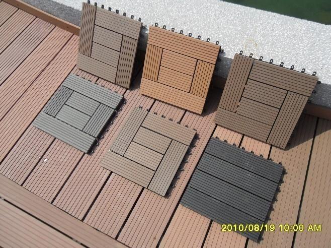 Diy Exterior Wood Plastic Composite Decking Flooring