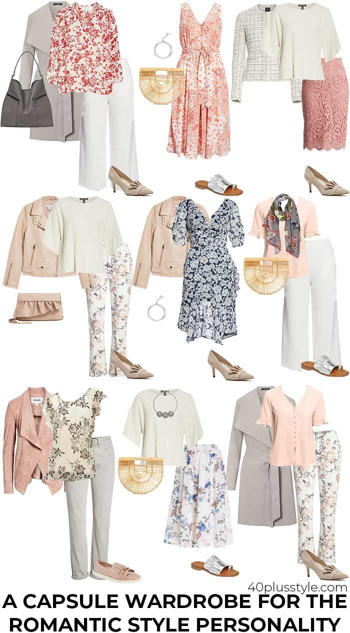 a capsule wardrobe for the romantic style personality | 40plusstyle.com-#40plusstyle #capsule #personality #romantic #style #wardrobe-#MinimalistStyle
