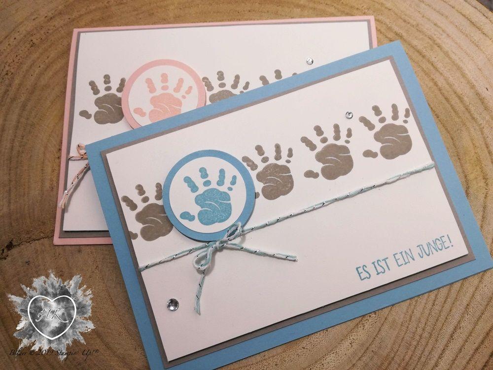 Stampin' Up!, Stamp'n'Hop – Frühling-/ Sommerkatalog und Sale a Bration 2019; Karte; First Steps; Baby; Süßes Baby #stampinup!cards