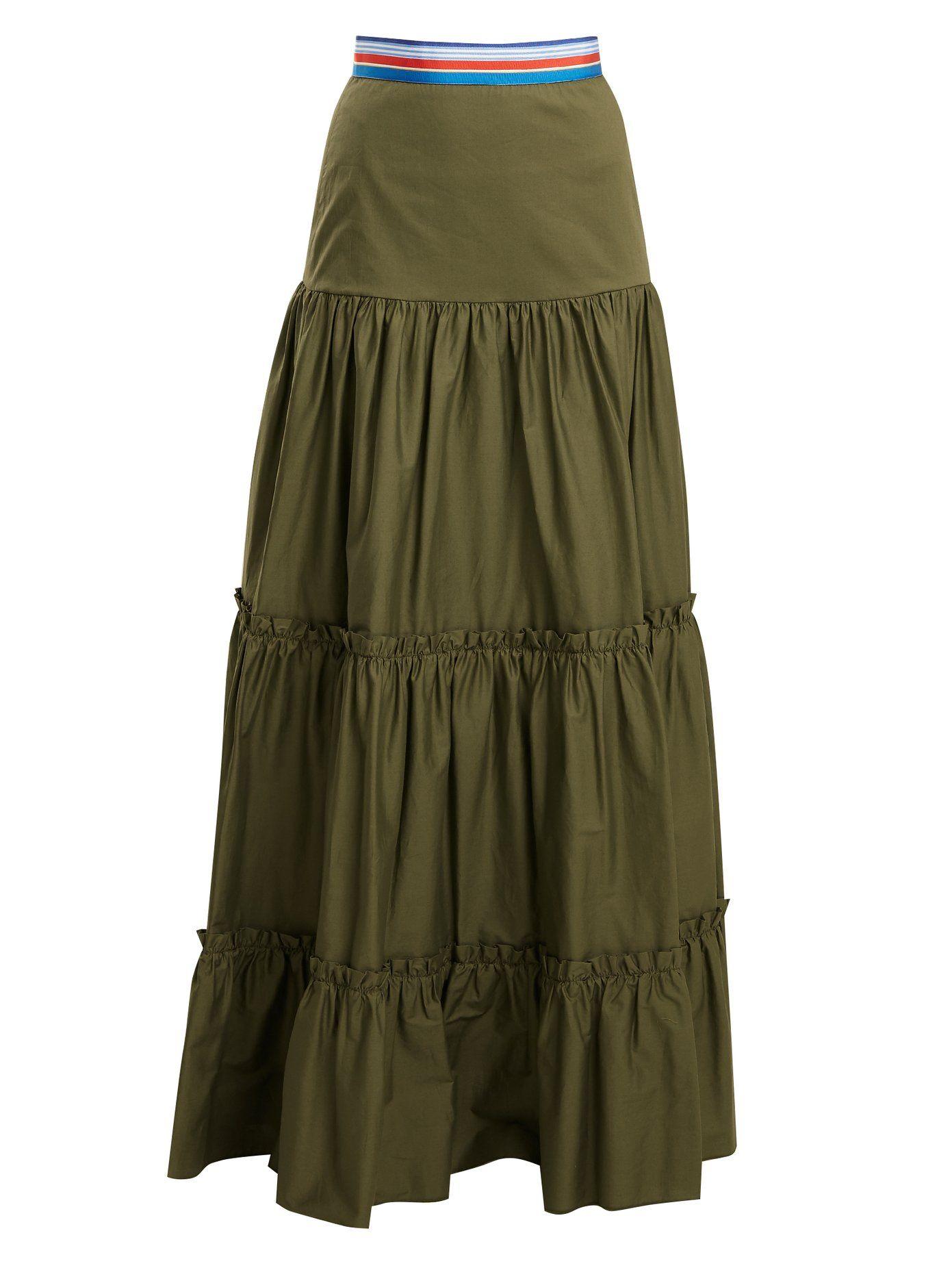 93f4161422 Tiered cotton-blend maxi skirt | Stella Jean | MATCHESFASHION.COM ...