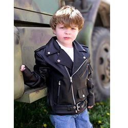 Buy Kids Boys' Leather Jacket | Top leather 10 : Leather kids ...