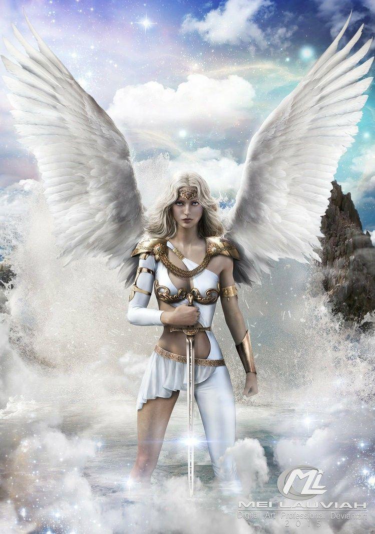 imágenes de ángeles mujeres con alas bella guerrera blanca