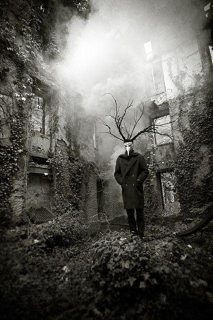 Urban faery - Cernunnos, the Horned God by Midnight-digital, Chris Dessaigne