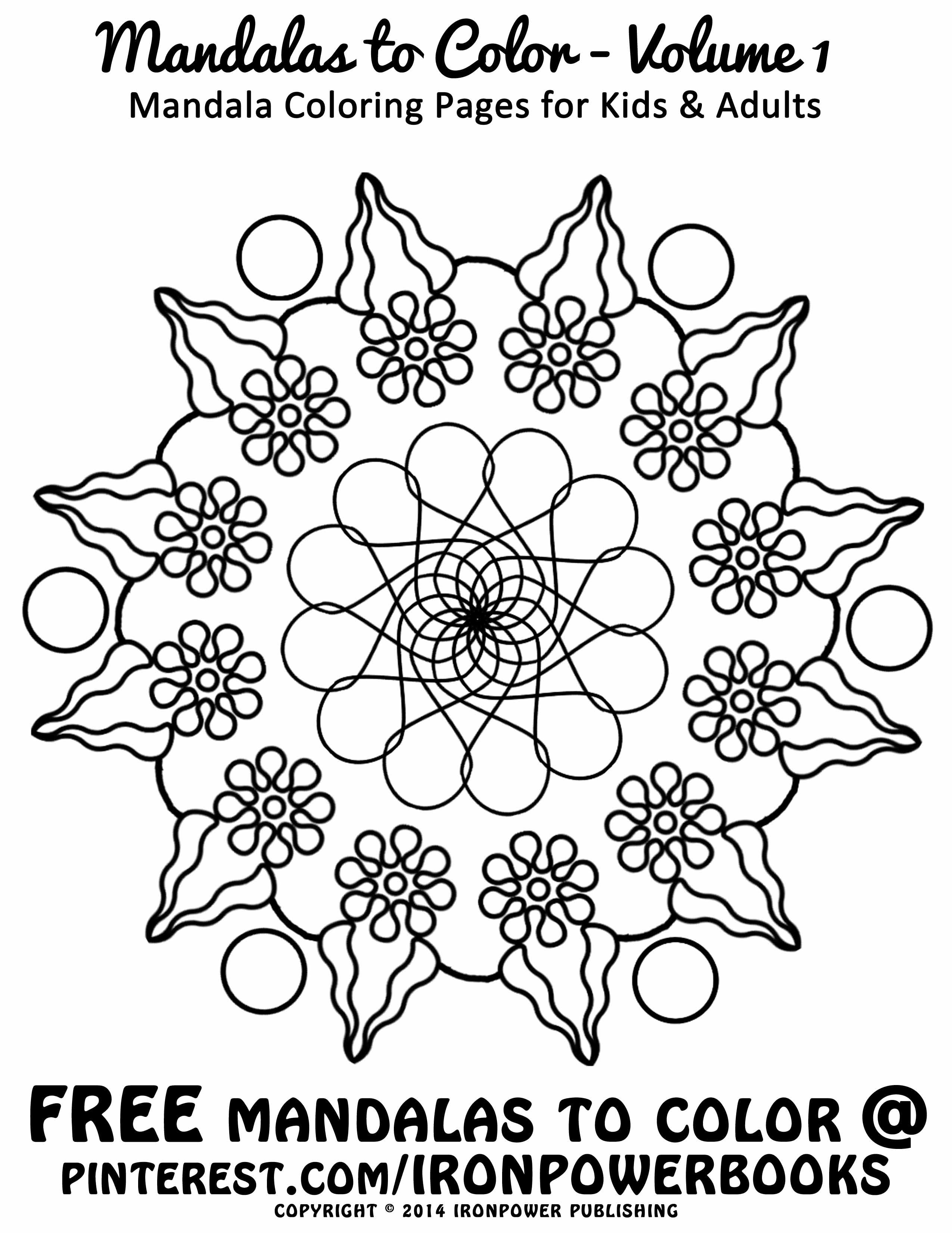 FREE Printable Art Therapy Mandala Coloring Pages for Kids and
