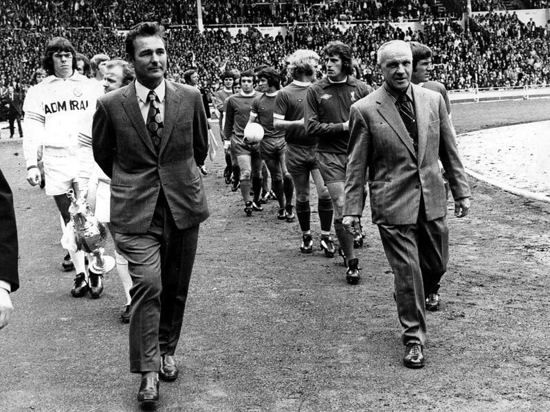 Clough and Shankly 1974 Charity Shield Bill shankly