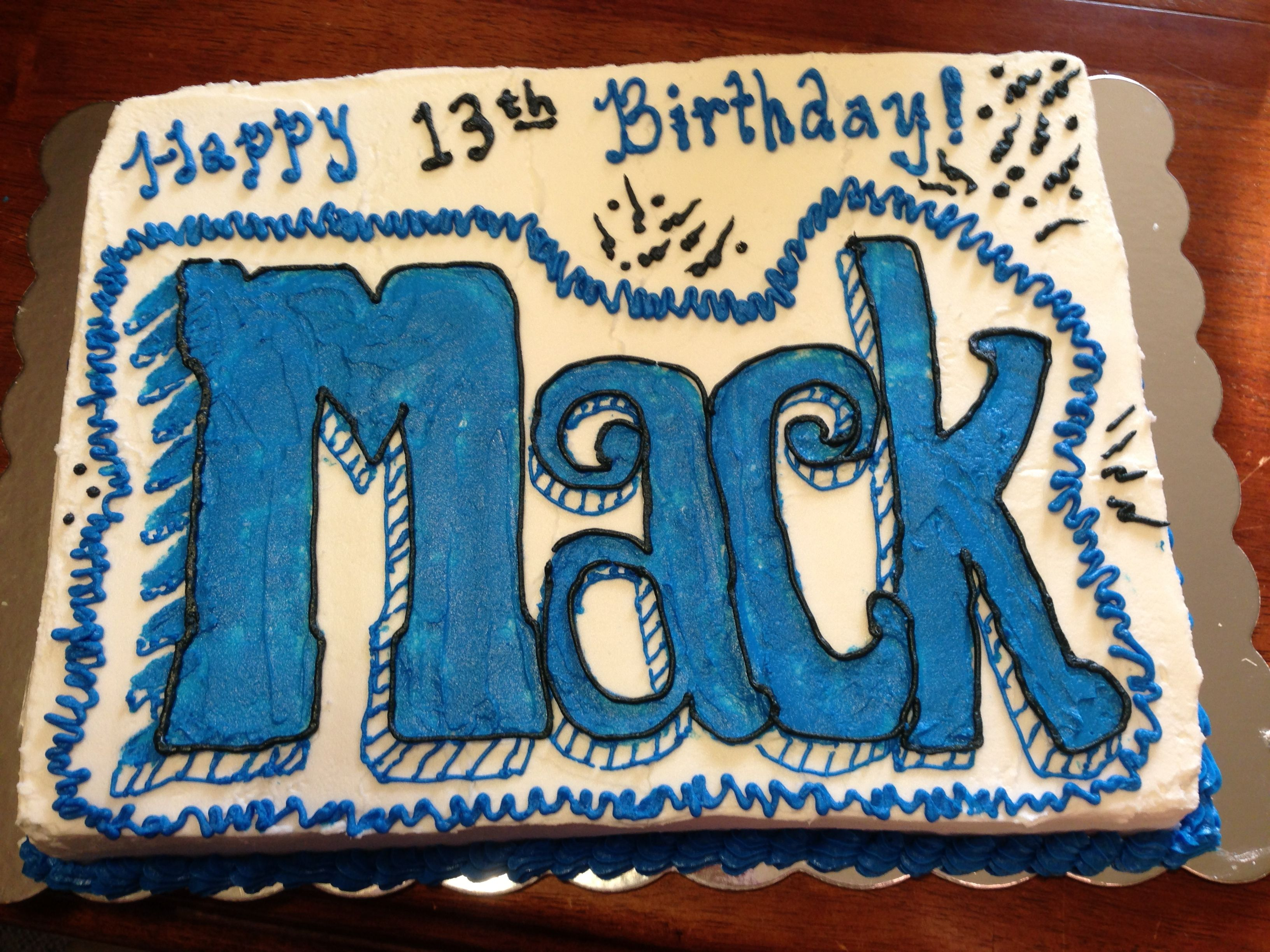 13th billboard birthday cake boy cake cakes for boys