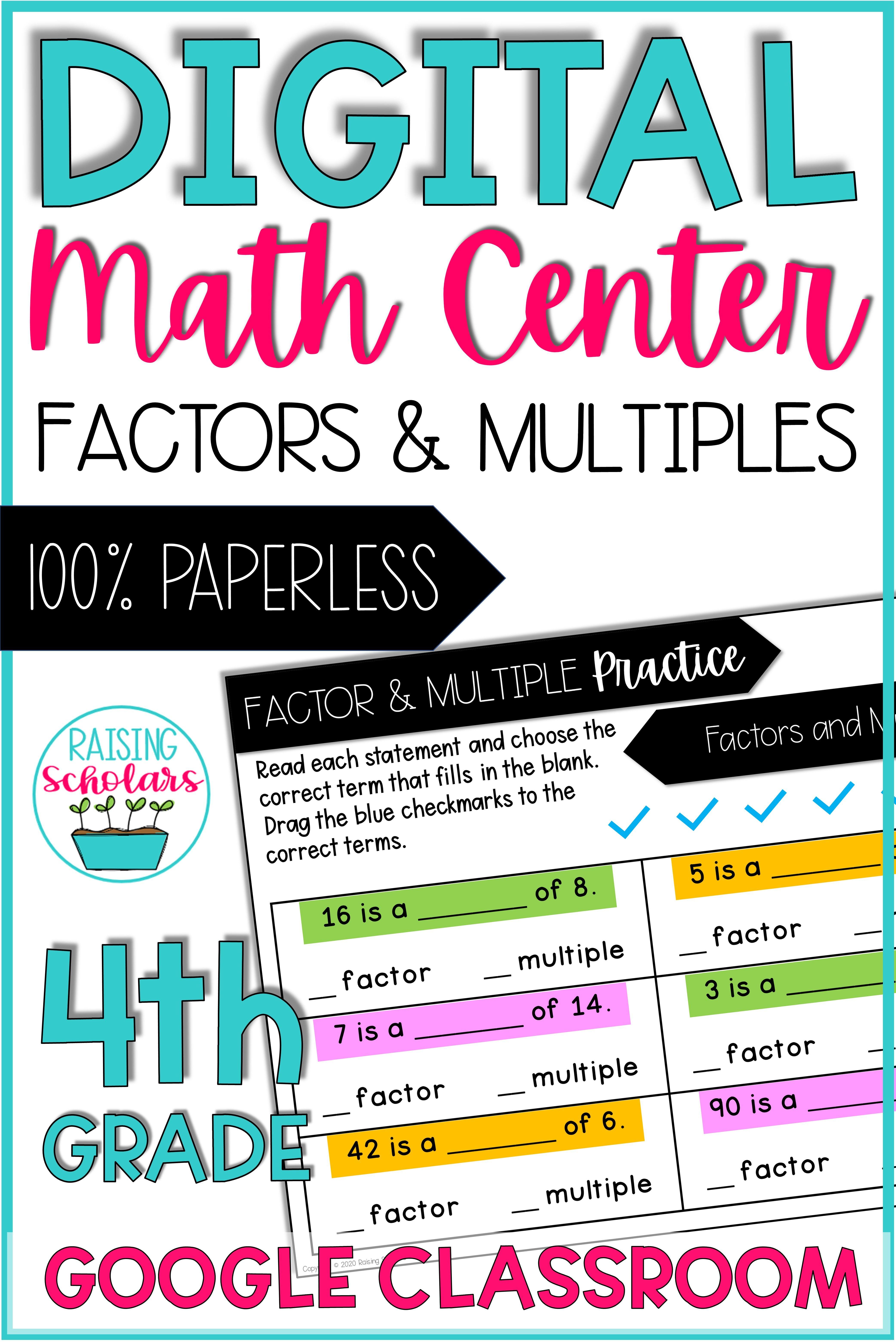 Digital Math Center 4th Factors Amp Multiples