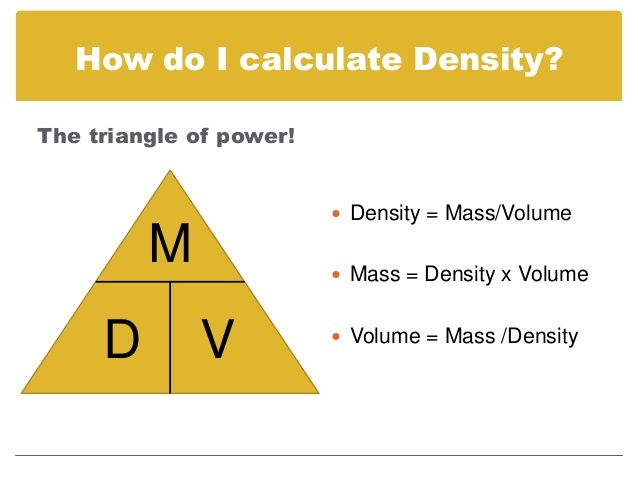 How To Calculate Density Google Search Science Math Pinterest