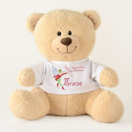 Merry Christmas Template Your Name Teddy Bear - template gifts ...