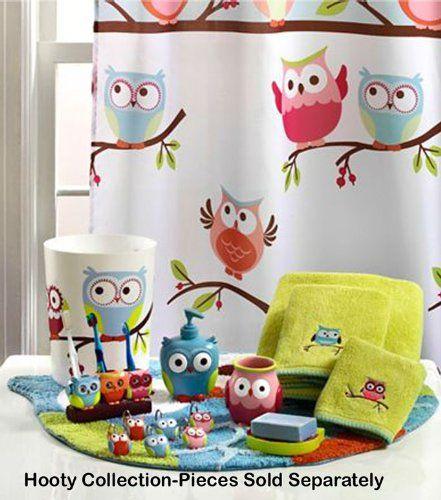 Hooty Hoot Owl Collection Shower Curtain Hooks Owl Bathroom