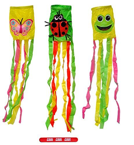 Set of 3 wind sock decorative outdoor house spring frog ladybug set of 3 wind sock decorative outdoor house spring frog ladybug butterfly spring garden flag set mother in lawspring gardeneaster giftgarden negle Choice Image