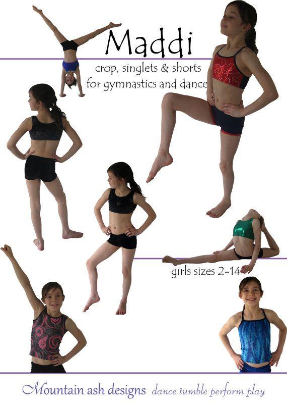 Gymnastics Pattern Training Wear Separates 1 pdf sewing pattern ...