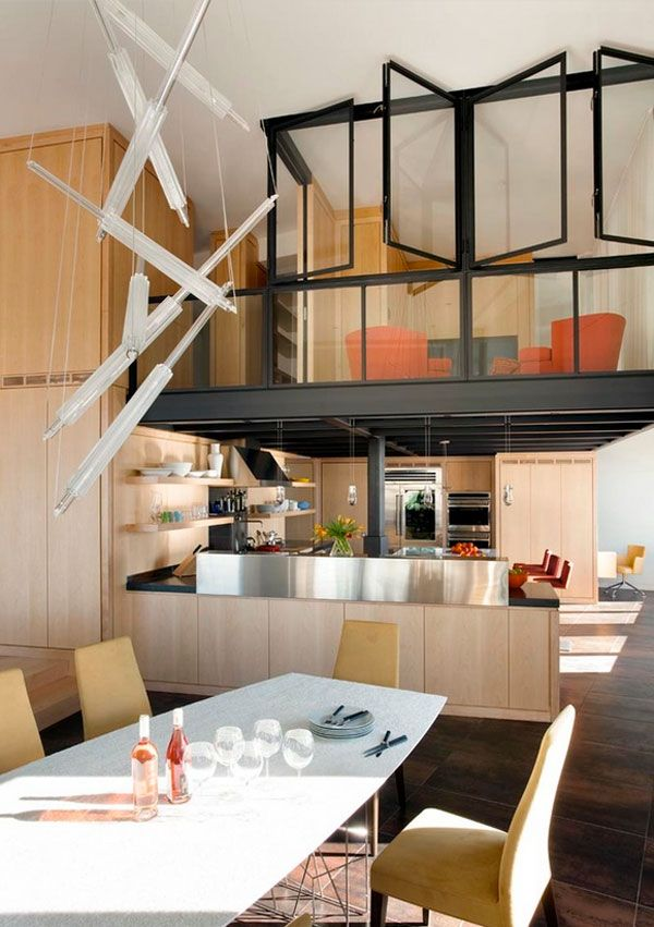 15 Of The Most Incredible Kitchens Under A Mezzanine Small House Interior Small House Interior Design Modern Houses Interior