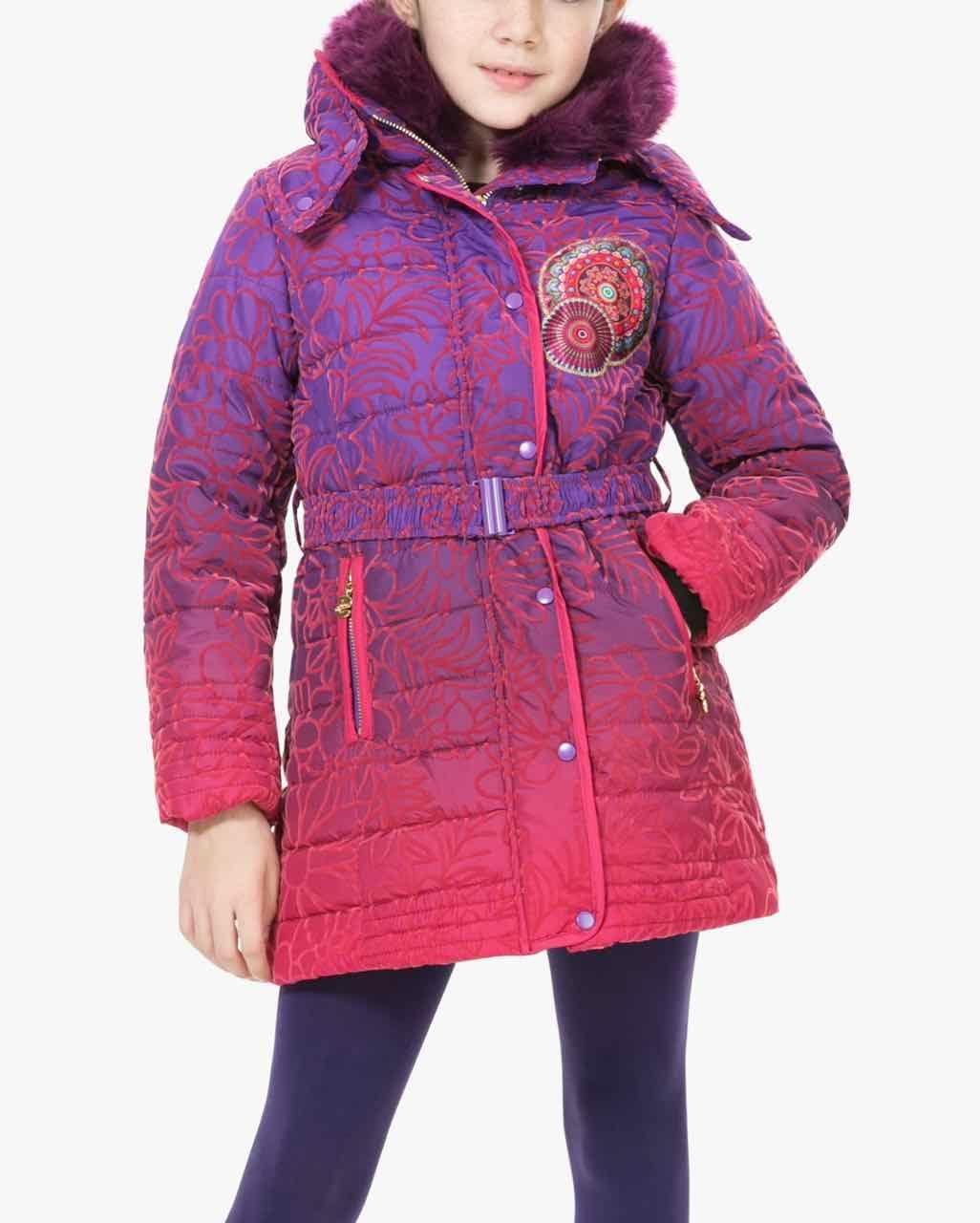 9c7cfa10dcf3 67E34B1 3125 Desigual Girl Coat Opuntia Buy Online