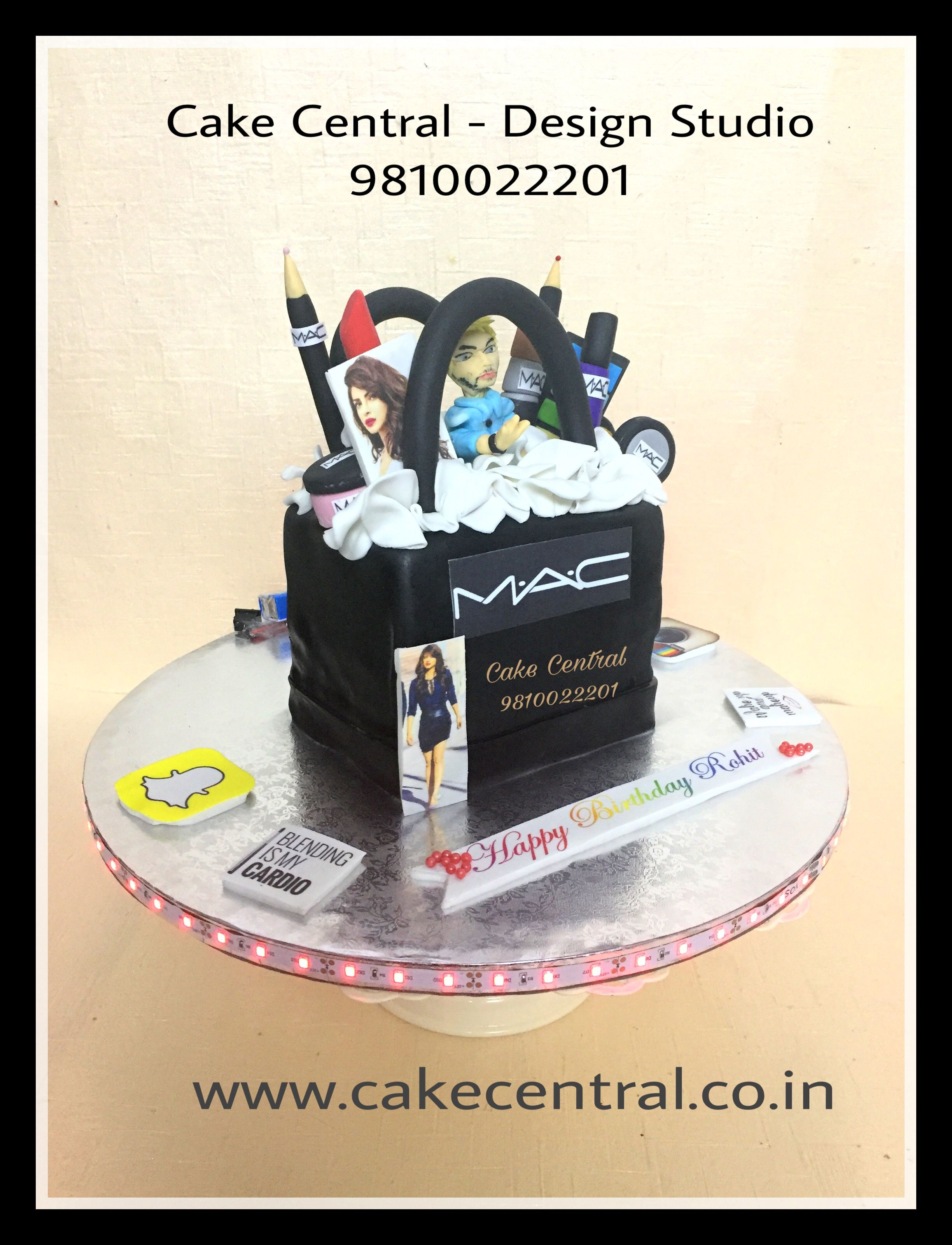 Mac Make Up Kit Cake With Birthday Boy S Edible Figurine We Offer