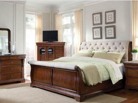 Slipcover Sleigh Bed