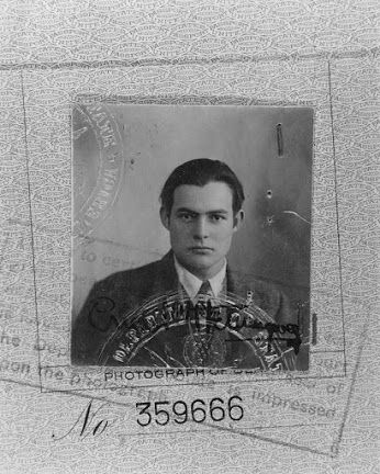 Passport photo of Ernest Hemingway, 1923