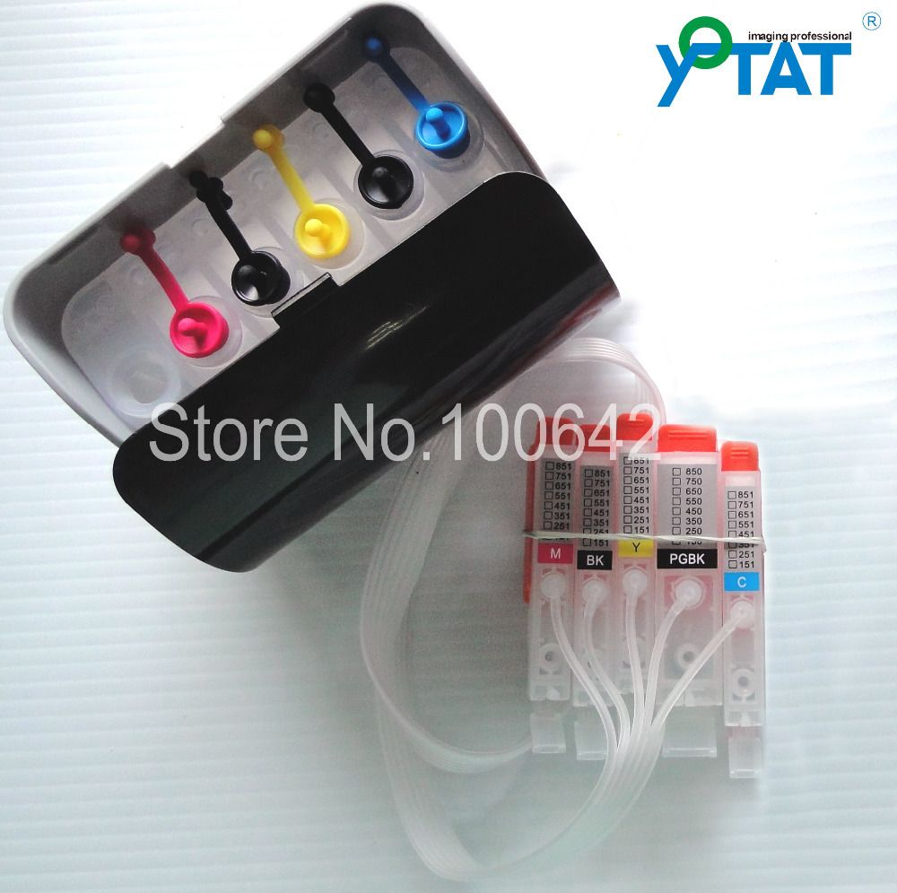 5 Color Mg5470 Mg6370 Ip7270 Mx727 Mx927 For Canon Pgi750 Cli751